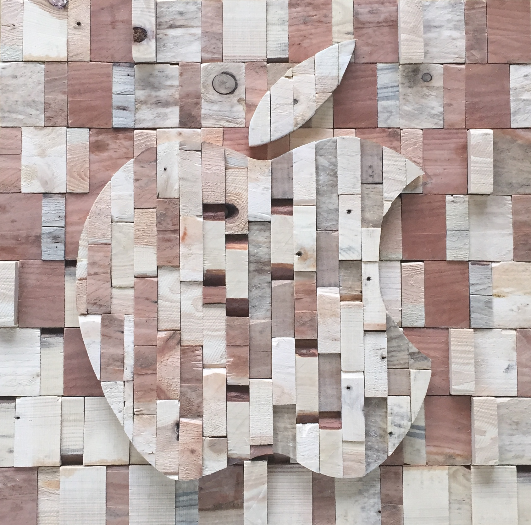 Apple - 61 x 61 cm. VERKOCHT