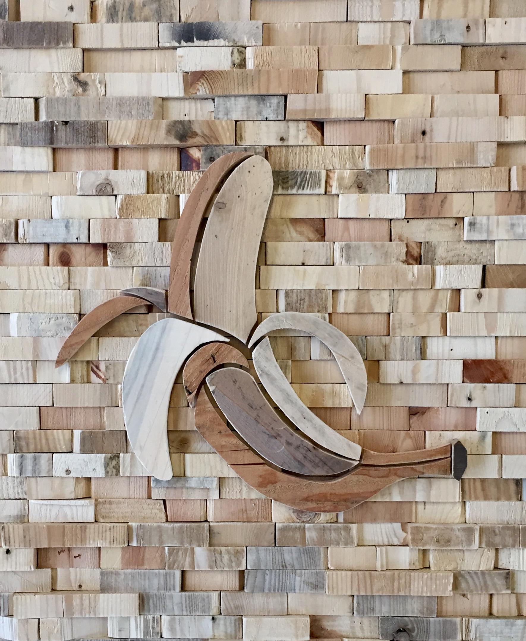 Banaan [zonder Ducttape] - 80 x 115 cm. VERKOCHT
