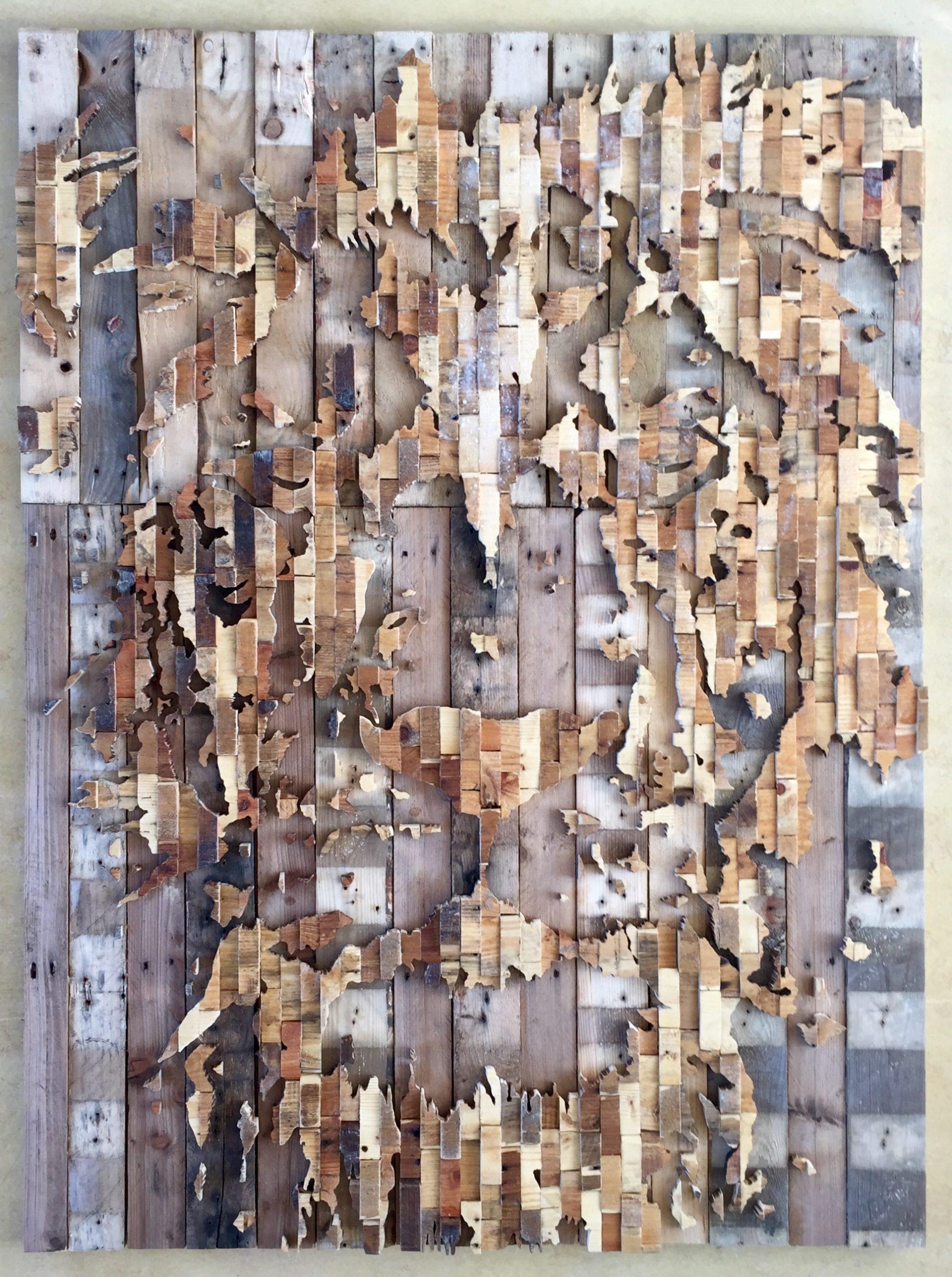 Leeuwenkop - 115 x 155 cm. TE KOOP -€ 2.350,-