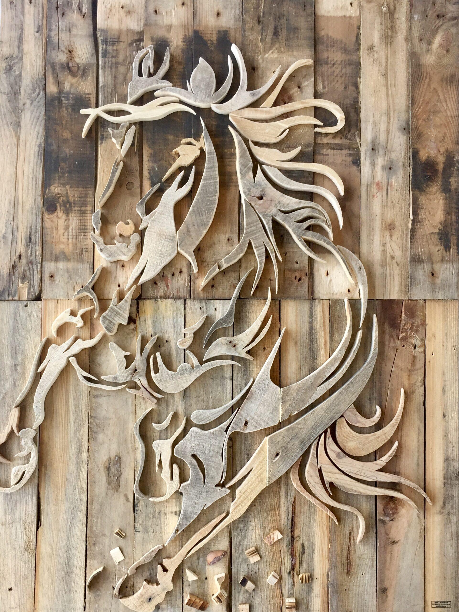 Paard - 115 x 145 cm. TE KOOP - € 2.250,-