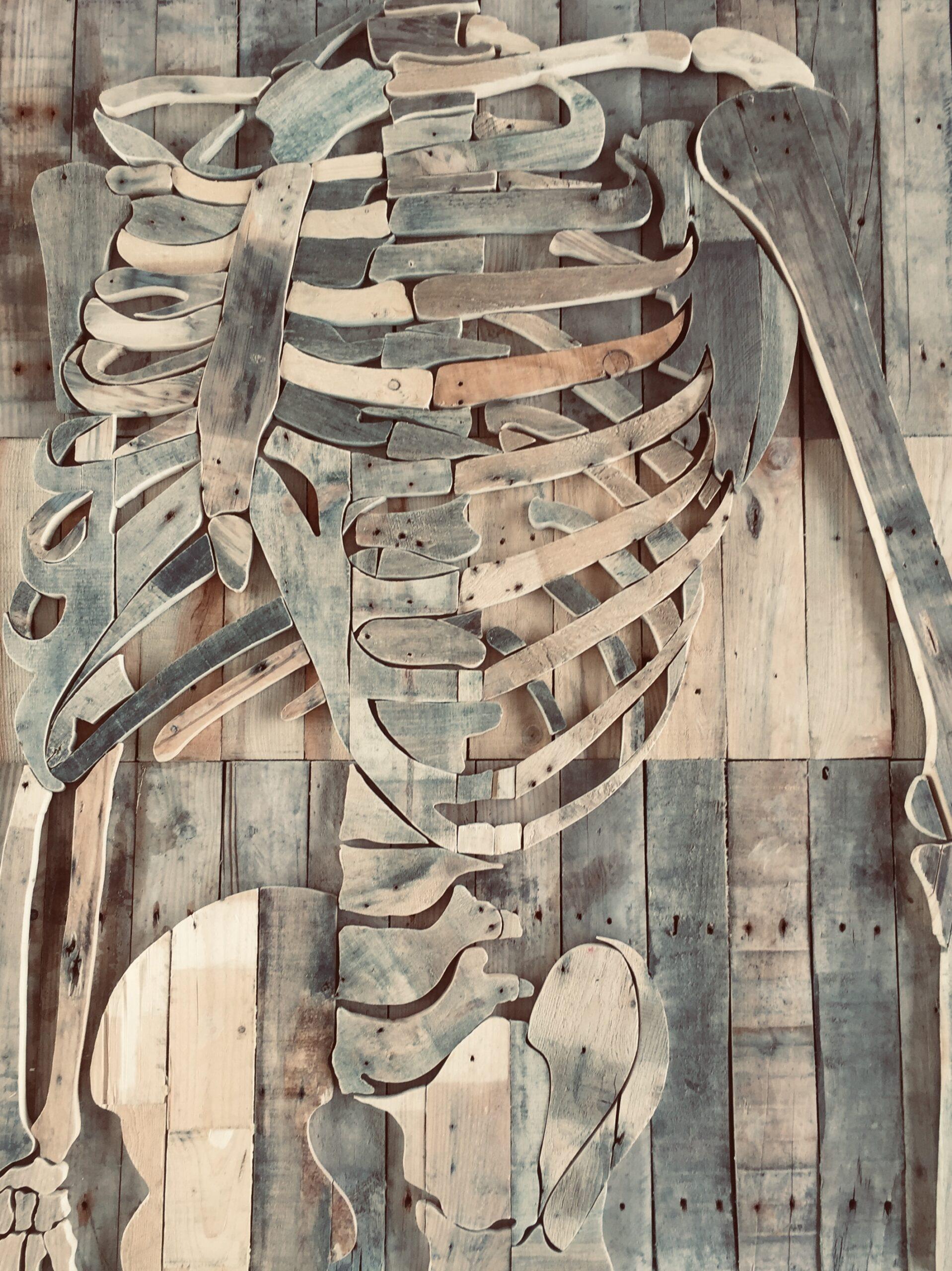 Skelet - 112 x 146 cm. TE KOOP - € 2.350,-