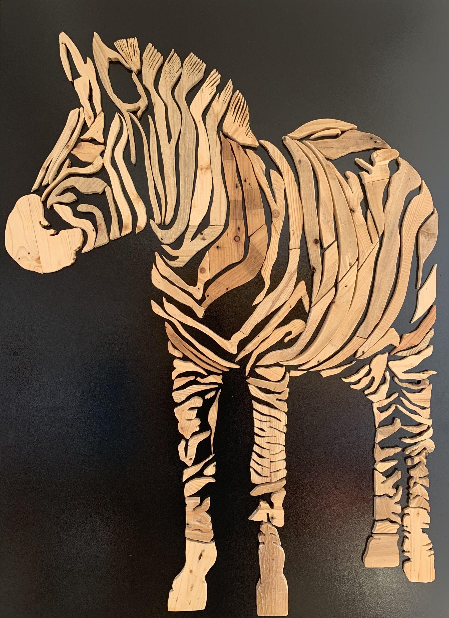 Zebra 2.0 - 110 x 150 cm. VERKOCHT