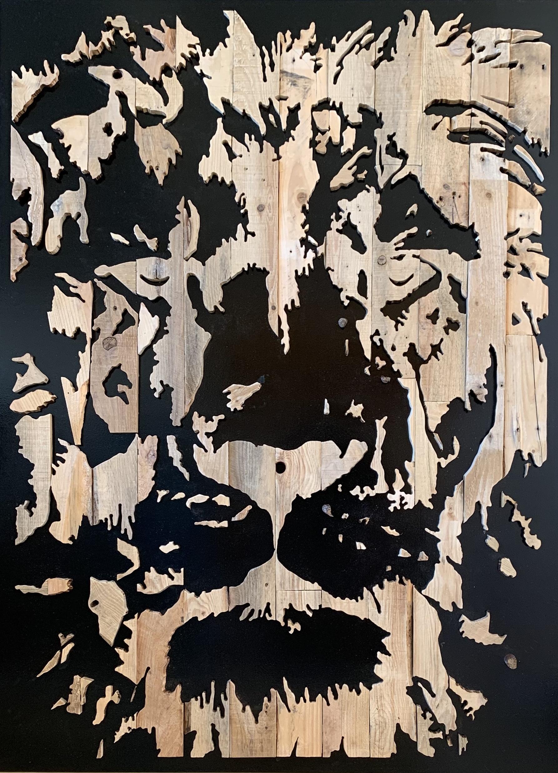 Leeuwenkop - 110 x 150 cm. TE KOOP - € 2.350,-