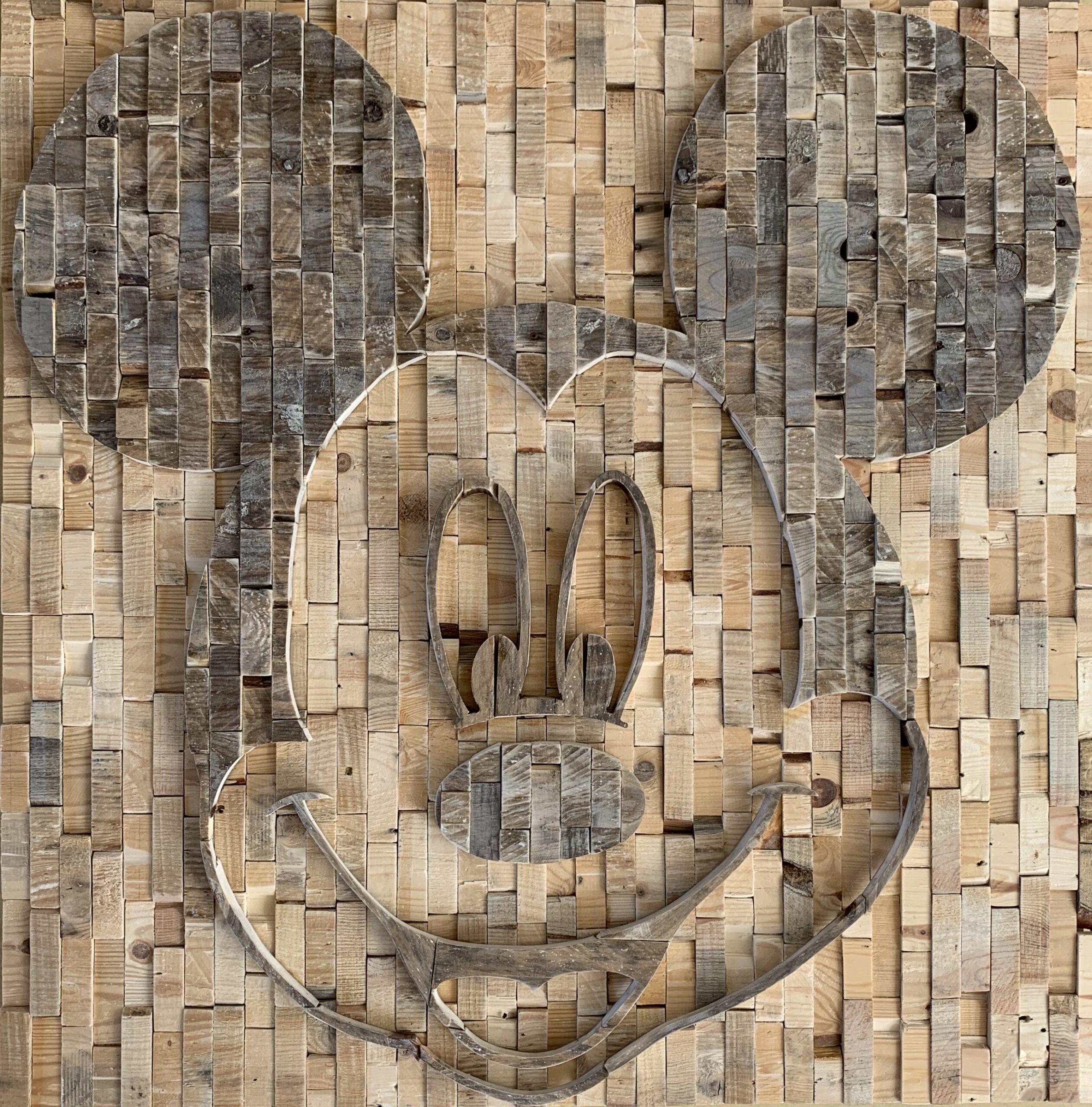 Mickey Mouse - 110 x 110 cm. VERKOCHT