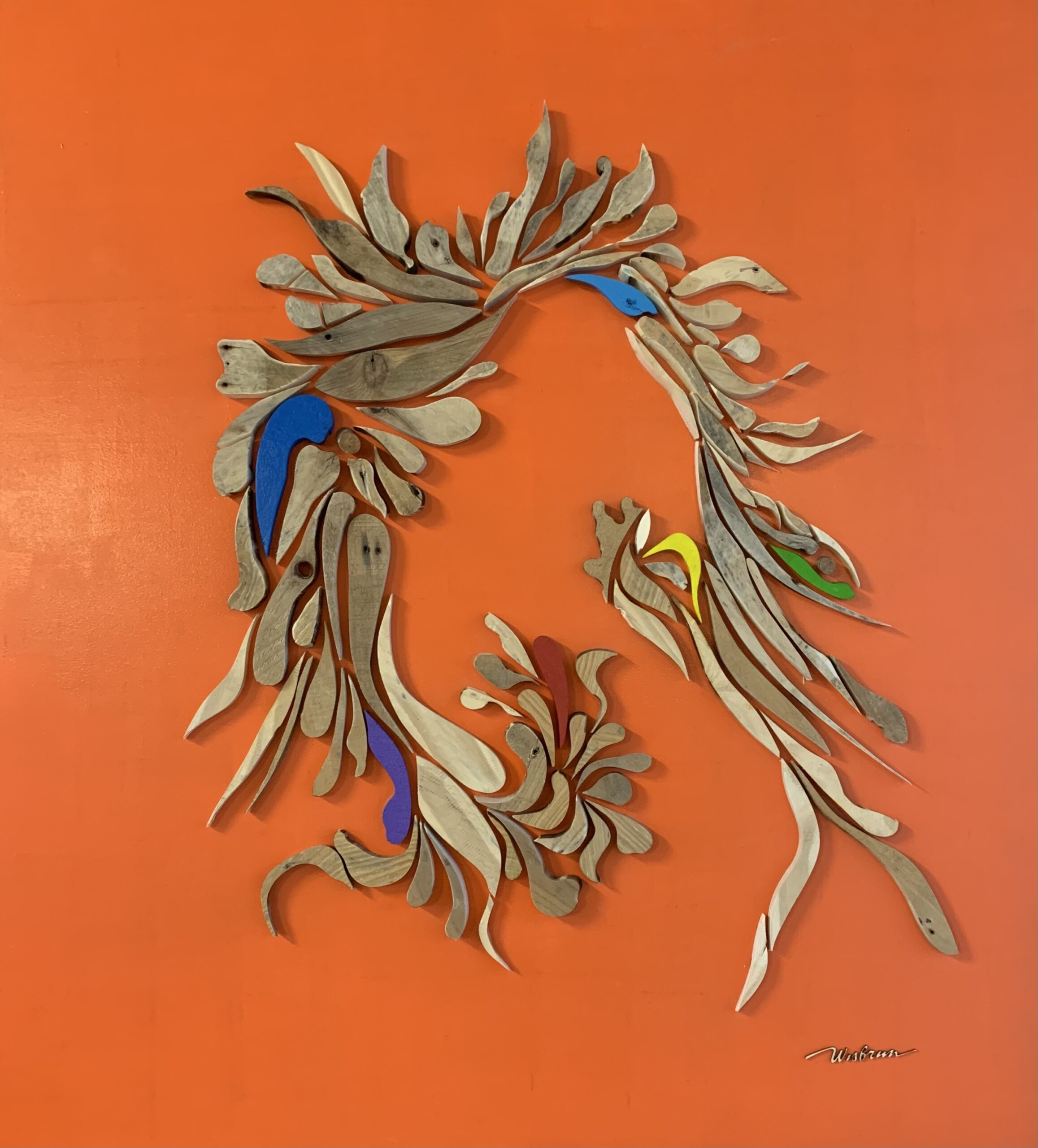OranjeOrangeNaranja - 110 x 122 cm. TE KOOP € 1.200,-