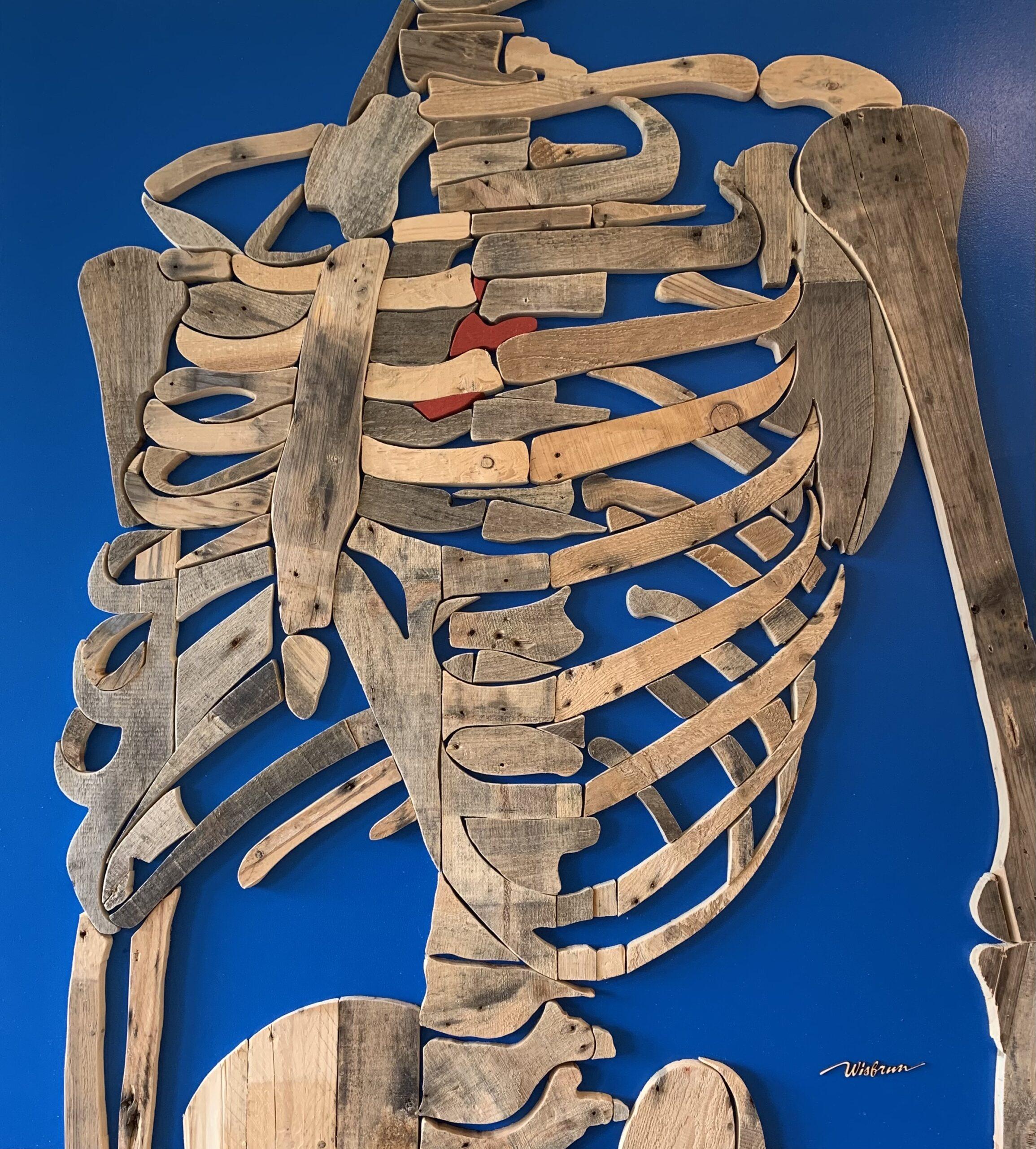 Skelet met hart - 110 x 122 cm. TE KOOP - € 2.050,-