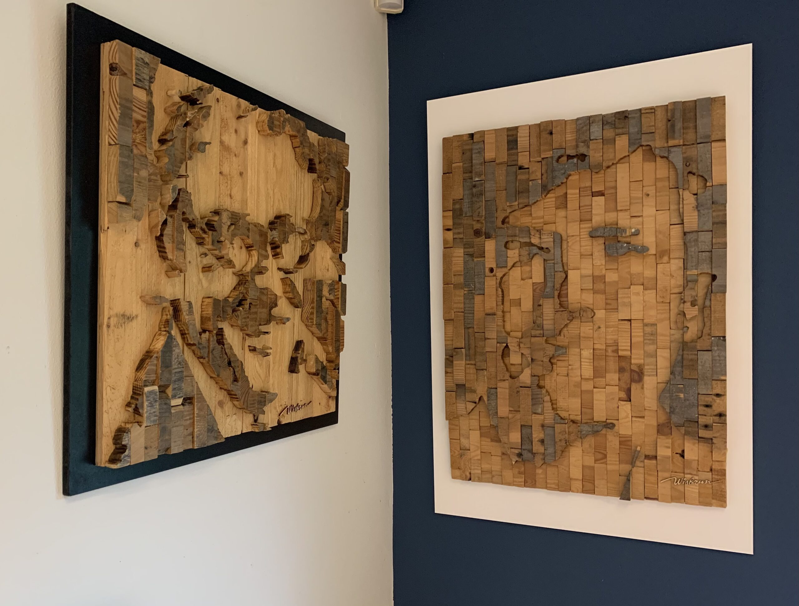 Portret Jeroen Krabbé en Koning Willem Alexander