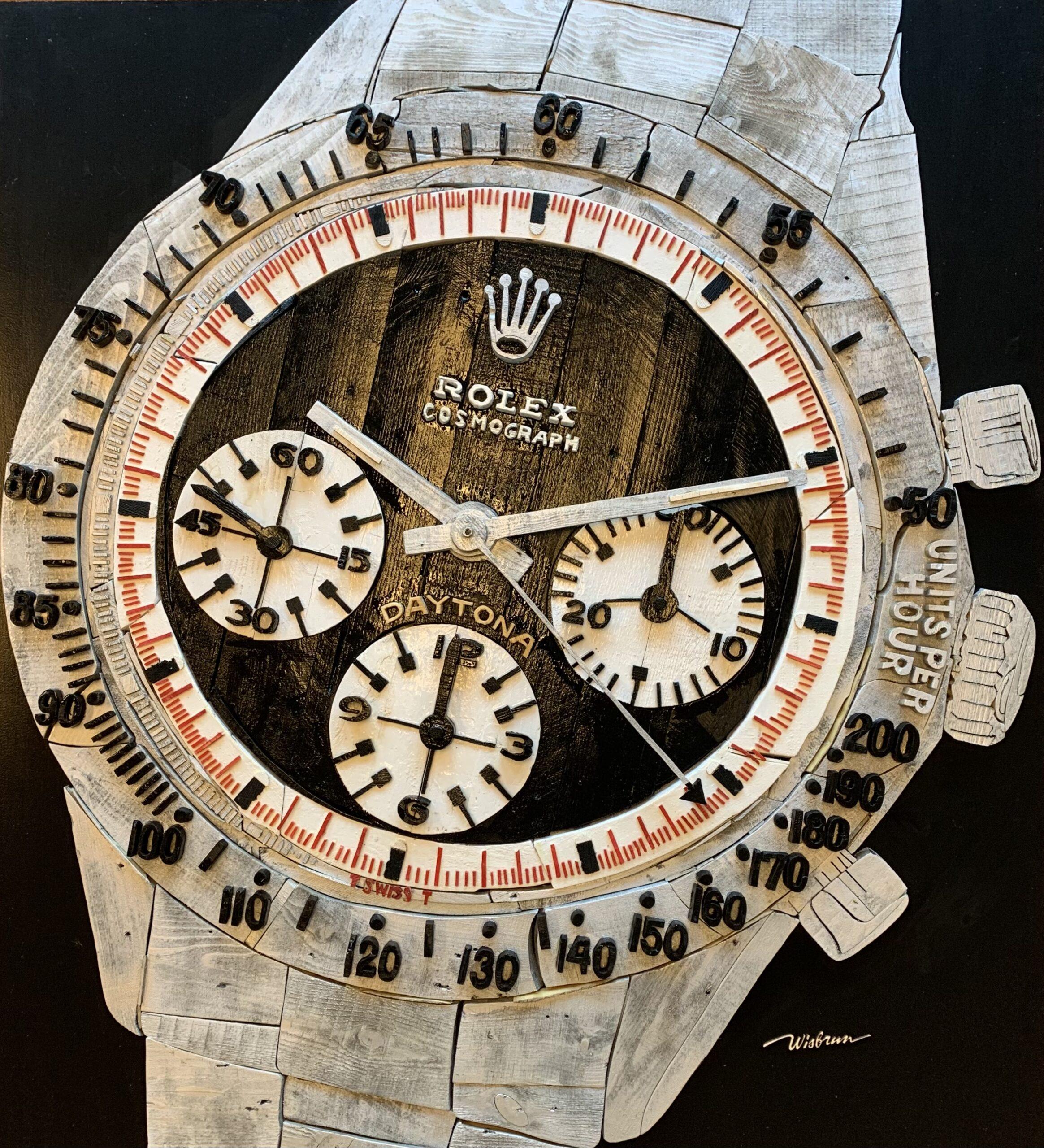 Rolex Daytona  - 110 x 122 cm. TE KOOP - € 6.000,-